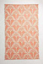 Pankha Handgewebter Teppich - Orange