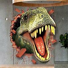panniuzhe Creative Tapete Funny 3D Dinosaurier Tapete Wand Aufkleber für Home Schlafzimmer Fenster