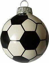Pannonia Dekor Fussball Christbaumkugel, Glas, 8 cm