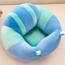 pannow Baby Unterstützung Seat, Lovely Baby sitzend Sessel Kinderzimmer Kissenschoner Training Kinder abnehmbaren Plüsch Stuhl Kissen Sofa für 3–16Monate, baumwolle, blau, M