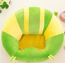 pannow Baby Unterstützung Seat, Lovely Baby sitzend Sessel Kinderzimmer Kissenschoner Training Kinder abnehmbaren Plüsch Stuhl Kissen Sofa für 3–16Monate, baumwolle, grün, M