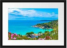 Panorama an der Toskana Bilderrahmen mit
