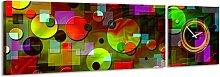 Panorama Uhr Bunte Elemente verschiedene Figuren und Formen modernen Wanduhr