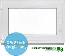 Panorama24 Kellerfenster - BxH: 70x40 cm - Kunststoff - Fenster - weiß - 3-fach-Verglasung - DIN links - 60mm Profil - LAGERWARE