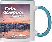 Panoramatasse aus Keramik mit Cala Ratjada Motiv