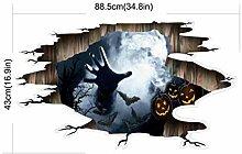 PanpA Halloween 3D Horror Wandspiegel Fenster