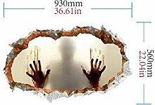 PanpA New Halloween 3D Horror Wandspiegel Fenster