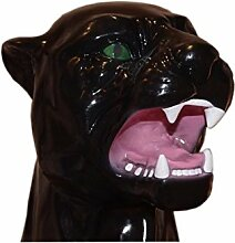 Panther Berglöwe Skulptur Figur Raub Katze Puma