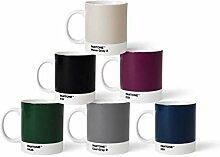 Pantone 6 Kaffeetassen mit Henkel Porzellan Becher