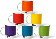 Pantone Kaffeebecher-Set, Porzellan, Klassisch,