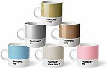 Pantone Porzellan Espressobecher 6er-Set, 6