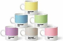 Pantone Teebecher-Set, Porzellan, Pastell, 10.4 x 10.4 x 8 cm