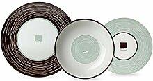 Pantone Teller aus Porzellan, Elfenbeinfarben,