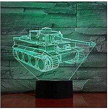 Panzer 3D Nachtlicht LVYONG Optische Illusion