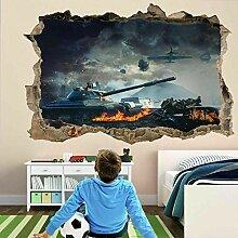 Panzerkrieg Militär 3D Wandkunst Aufkleber