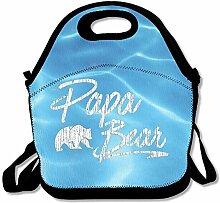 Papa Bear Convenient Lunch Box Tote Bag Rugged
