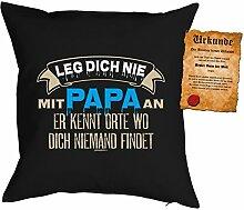 Papa Kissen Sprüche Vater Kuschelkissen - Väter