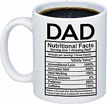 Papa Nährwertangaben Label Kaffeetasse - lustige