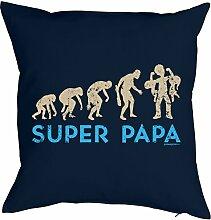 Papa-Spaß-Kissenbezug Evolution ohne Füllung: