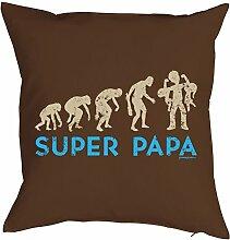 Papa-Spaß-Kissenbezug Evolution ohne Füllung: Super Papa - tolle Geschenkidee