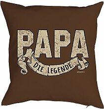 Papa-Spaß-Kissenbezug ohne Füllung: Papa die Legende - tolle Geschenkidee