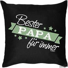 PAPA VERSTEHER Vatertagsgeschenk Dankeschön BESTER PAPA - Kissenbezug - Geschenke zum Vatertag Geburtstag zur Geburt - Motiv Kissenhülle Deko 40x40cm schwarz : )