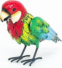 Papagei bunt Metall 24 cm (913879) Vogel Gartendeko Gartenfigur