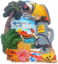 Papagei Cancun Mexiko 3D Kühlschrank