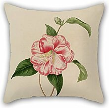 PaPaver Flower Christmas Pillowcover Best For Couples Valentine Festival Him Relatives Home 16 X 16 Inches / 40 By 40 Cm(each Side)