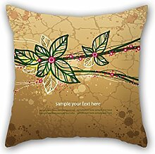 PaPaver Flower Pillow Cases ,best For Home,home Theater,family,lounge,her,play Room 18 X 18 Inches / 45 By 45 Cm(double Sides)