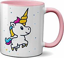 PAPAYANA - 1008 - UNICORN - Beidseitig Bedruckte Tasse 325ml 11oz - Große Farbauswahl - Pink