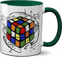 PAPAYANA - 1017 - RUBIK-CUBE - Beidseitig Bedruckte Tasse 325ml 11oz - Große Farbauswahl - Grün