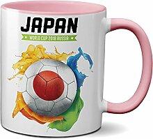 PAPAYANA 1062 - Weltmeisterschaft-Japan - Beidseitig Bedruckte Tasse 11oz 325ml - Große Farbauswahl - Pink