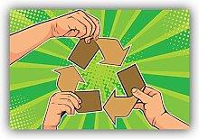 Paper Recycle Pop Art Emblem - Self-Adhesive