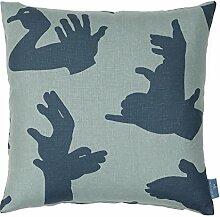 Paperboy Tapete Hand Made Kissen, Blau