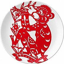 Papercut Chinesisches Sternzeichen Affe China