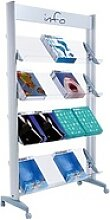 PAPERFLOW Prospektständer silber DIN A4 16 Fächer