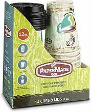 PaperMade Einwegbecher für heiße Getränke,