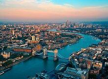 Papermoon Fototapete London Skyline B/L: 3,5 m x