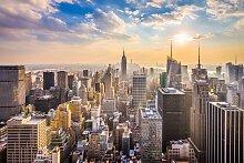 Papermoon Fototapete Manhattan Skyline B/L: 5 m x