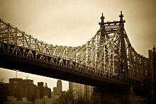Papermoon Fototapete New York Bridge B/L: 4 m x