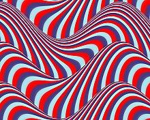 Papermoon Fototapete Op Art Fließende Streifen,