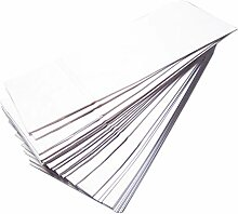 Papier Bodenbeutel weiß 50 Stück größe 10x7x26