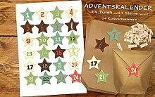 Papier&Eulen Set 24 Weihnachtstütchen