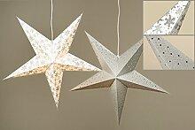 Papier Faltstern silber (Modell zufällig, 1
