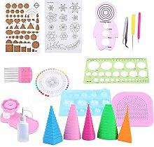Papier Quilling Kit, Quilling Papierrollen Kit