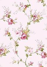 Papier Tapete Wirkung als mit Blumen pink und