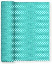 Papier-Tischdecke für Partei Dekor Sterne Aquamarin - 1,2 m x 5 m