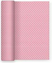 Papier-Tischdecke für Partei Dekor Sterne rosa Baby - 1,2 m x 5 m