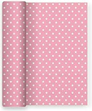 Papier-Tischdecke für Partei Dekor Sterne rosa